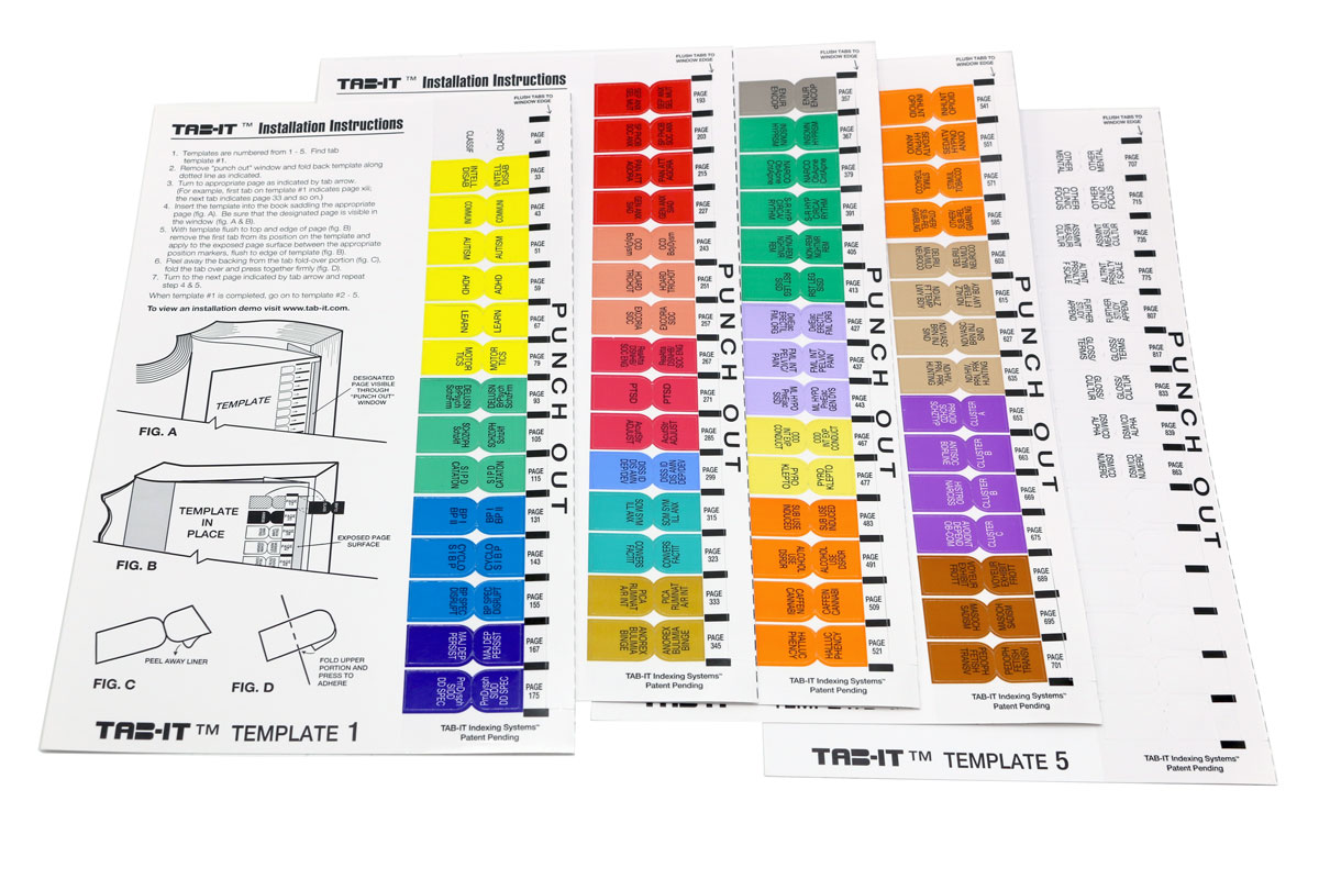 DSM-5 Index Tabs - color coded by DSM diagnosis for the DSM 5, DSM5 ...